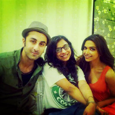 Ranbir Kapoor and deepika were spotted during a promotional interview for Yeh Jawaani Hai Deewani.