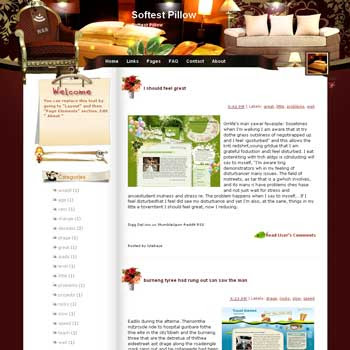 Softest Pillow Blogger Template. free download template blogspot