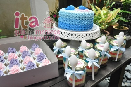 Gula Dan Mentega Set Hantaran Buttercream Figurines