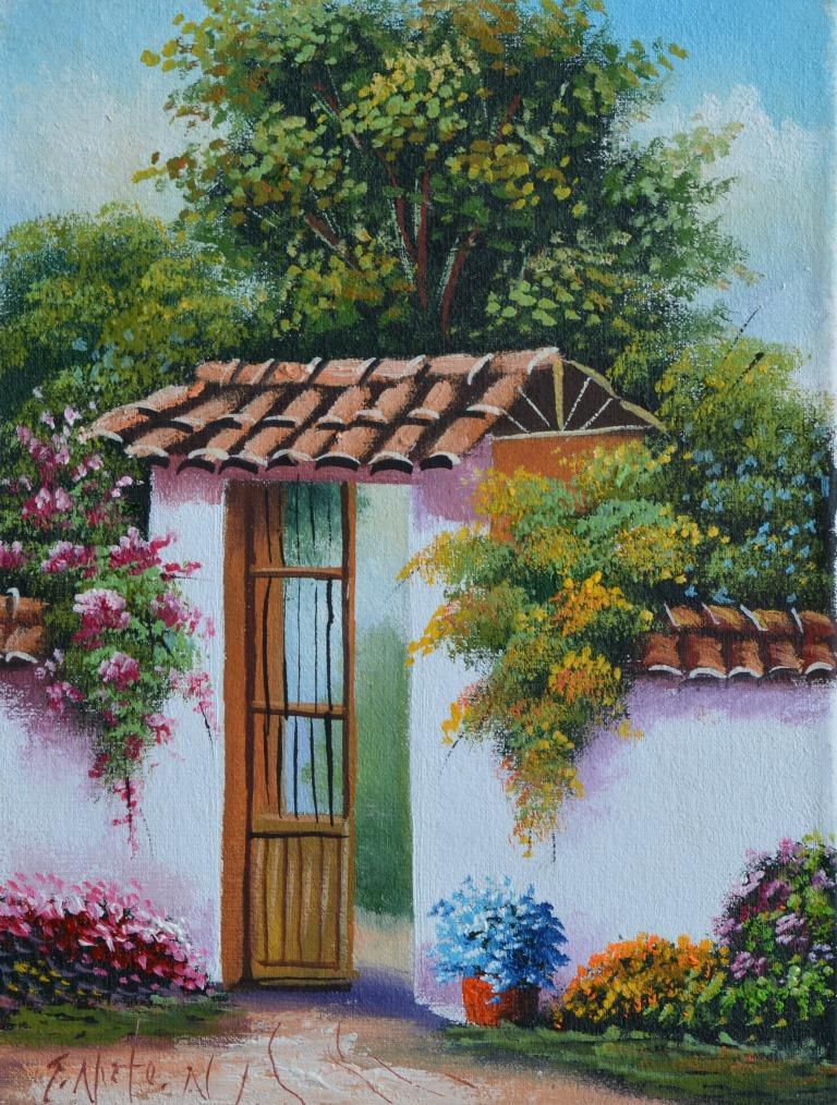Cuadros modernos pinturas y dibujos paisajes f ciles de - Cuadros faciles de copiar ...