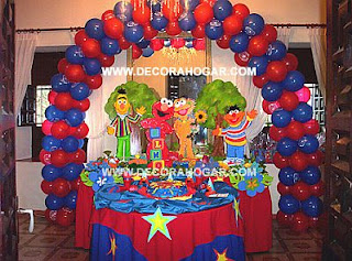 Elmo decoration for children parties