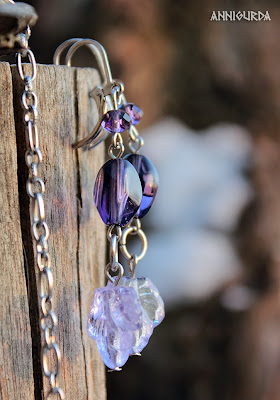 украшение, кулон, колье, сережки, комплект украшений, аметист, фиолетовый, сиреневый