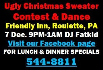 12-7 Contest & Dance at Friendly Inn