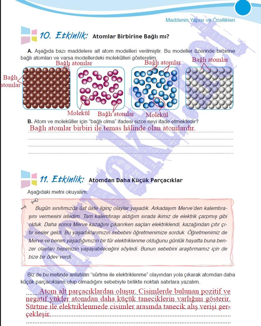 Sınıf fen ve teknoloji çalışma kitabı meb yayınları