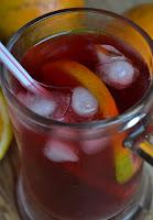 Chá Gelado de Morango e Tangerina (vegana)