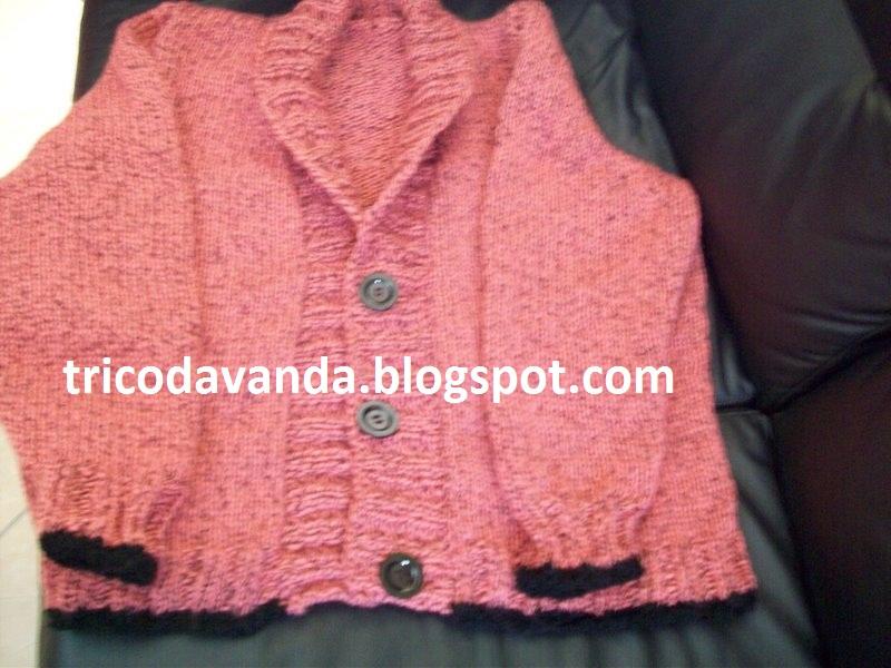 TRICODAVANDA: Blusa de tricô com gola