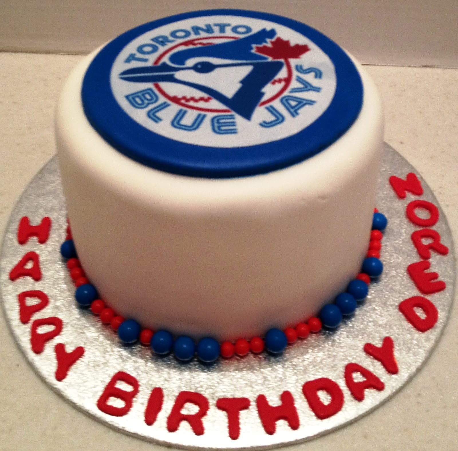 MaryMel Cakes: Blue Jays birthday cake
