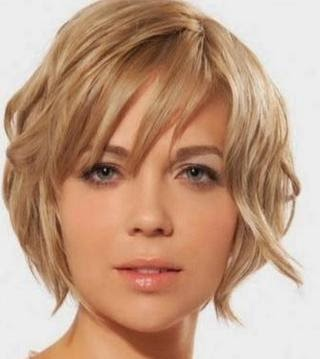 In choosing the pieces of the model short haircut for a round face
