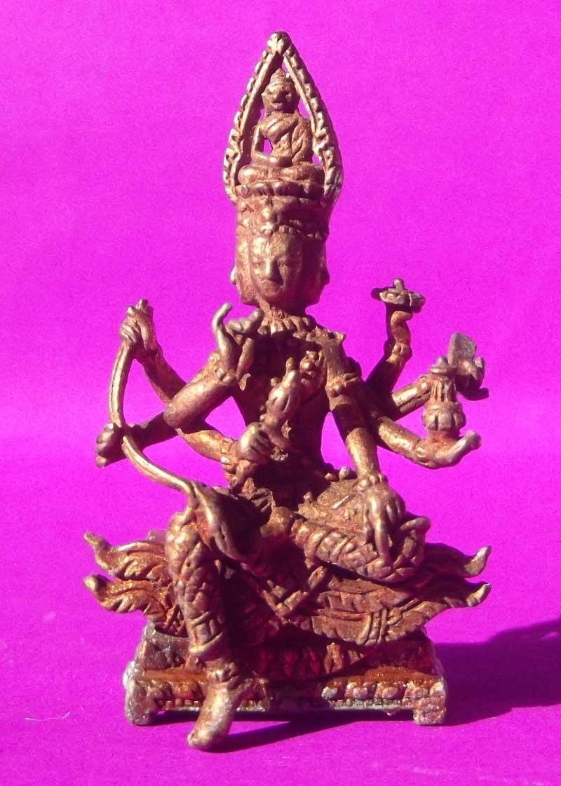 Brahma Thai Amulet Mini StatuetteLuang Phu Bua