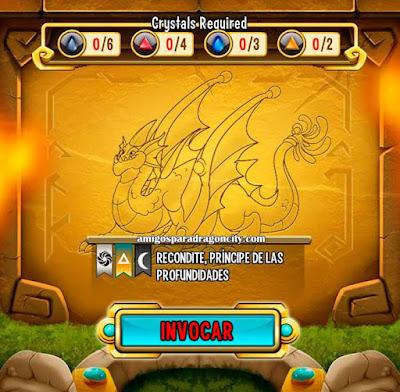 imagen de las caracteristicas del dragon recondite