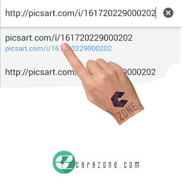 Cara download gambar dari picsart lewat android