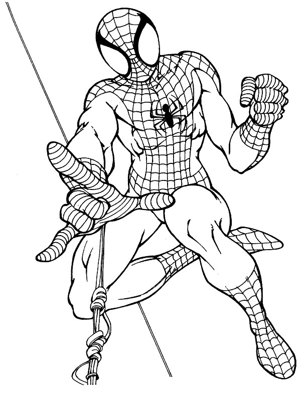 Kids Under 7: Spider-man Coloring pages