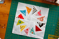 Geese paper piecing
