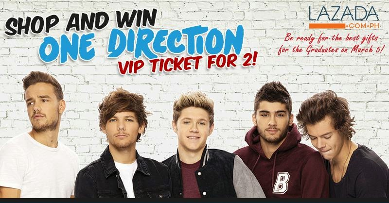Win one direction vip tickets for 2 ednything lazada is giving away vip tickets to the much awaited concert of todays popular boy group one direction happening on march 21 2015 at the sm mall of m4hsunfo