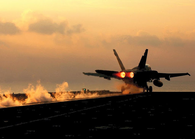 f18 carrier takeoff