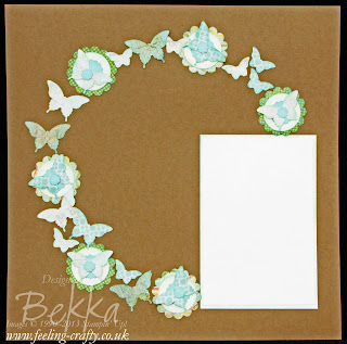 Epic Day This and That Butterfly Circle Scrapbook Page made by Stampin' Up! Demonstrator Bekka Prideaux for the Feeling Crafty Scrapbook Club