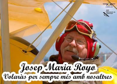 Pòster editat per l'Aeroclub i l'FPAC en ocasió de l'homenatge.