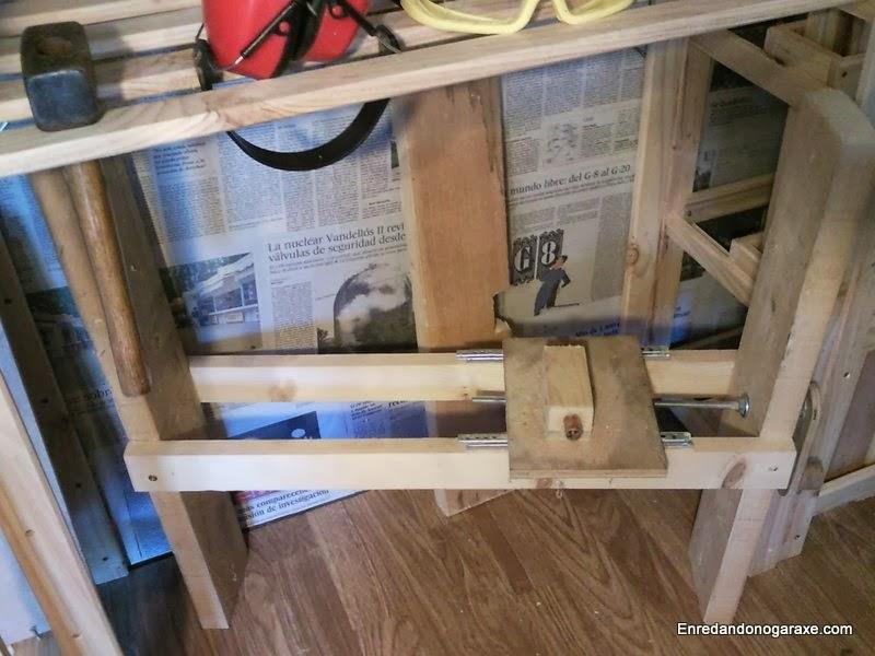 Sistema de elevación para sierra de mesa, enredandonogaraxe.com