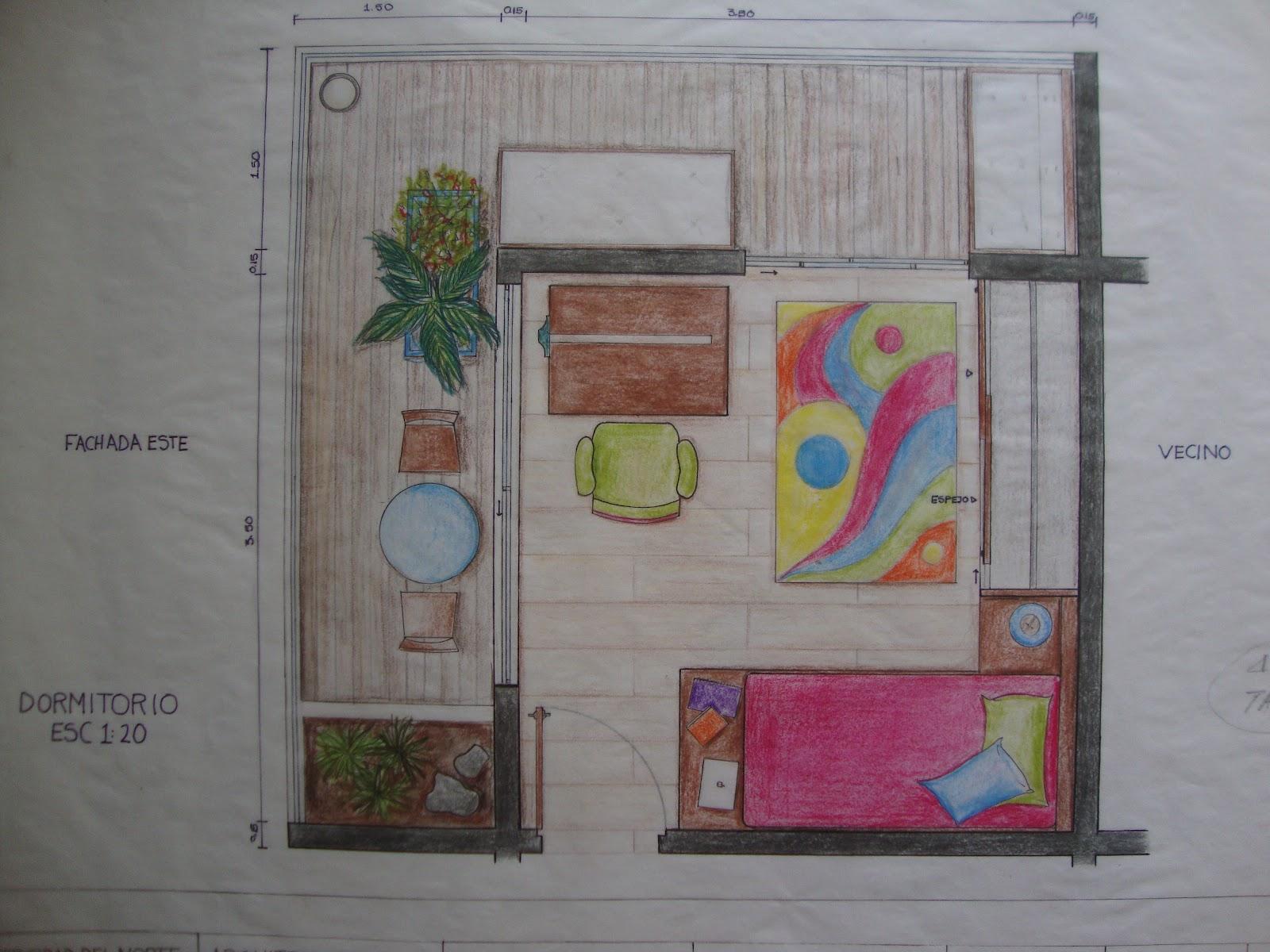 Baño Vestidor Arquitectura: principal de dimensiones 8 x 5 con baño, vestidor y balcón