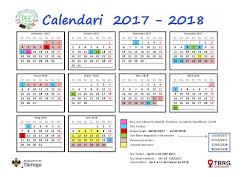 CALENDARI ESCOLAR curs 2017-2018