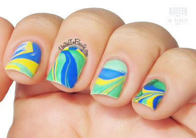 Water marble nails technique