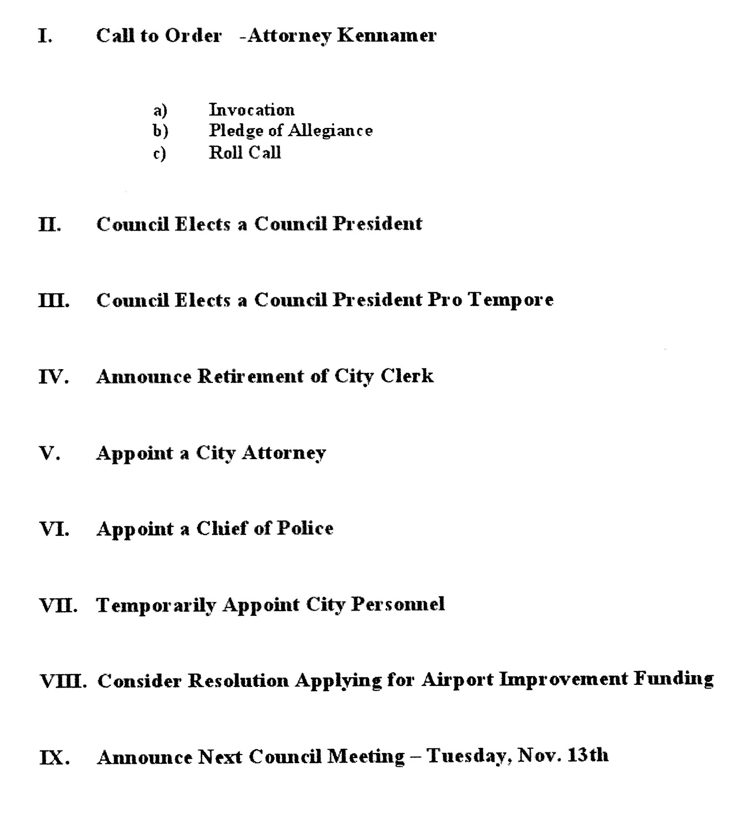Team Meeting Agenda Template Scottsboro city council agenda