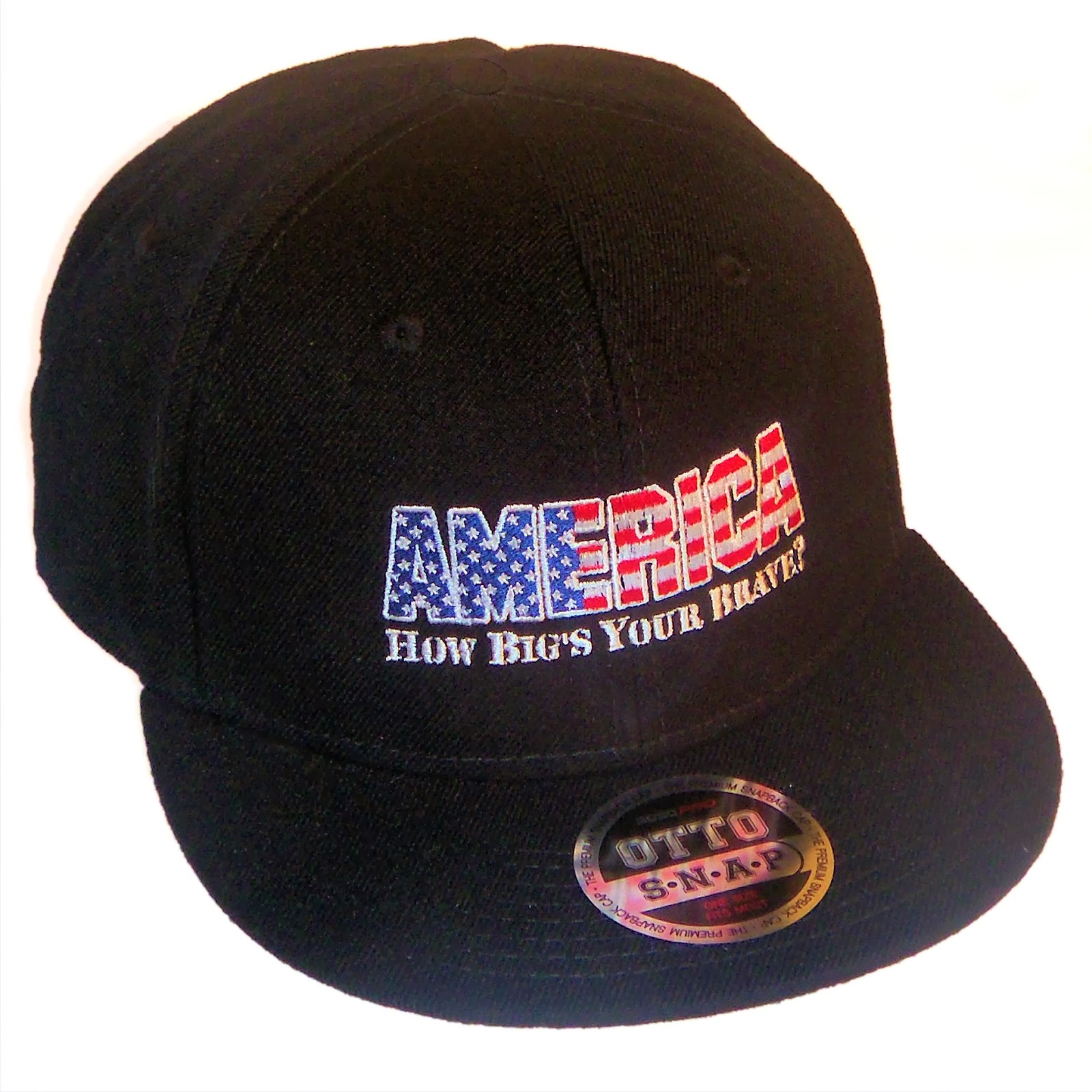 AMERICA How Big's Your Brave Flat Bill Snapback Cap From Edge SST