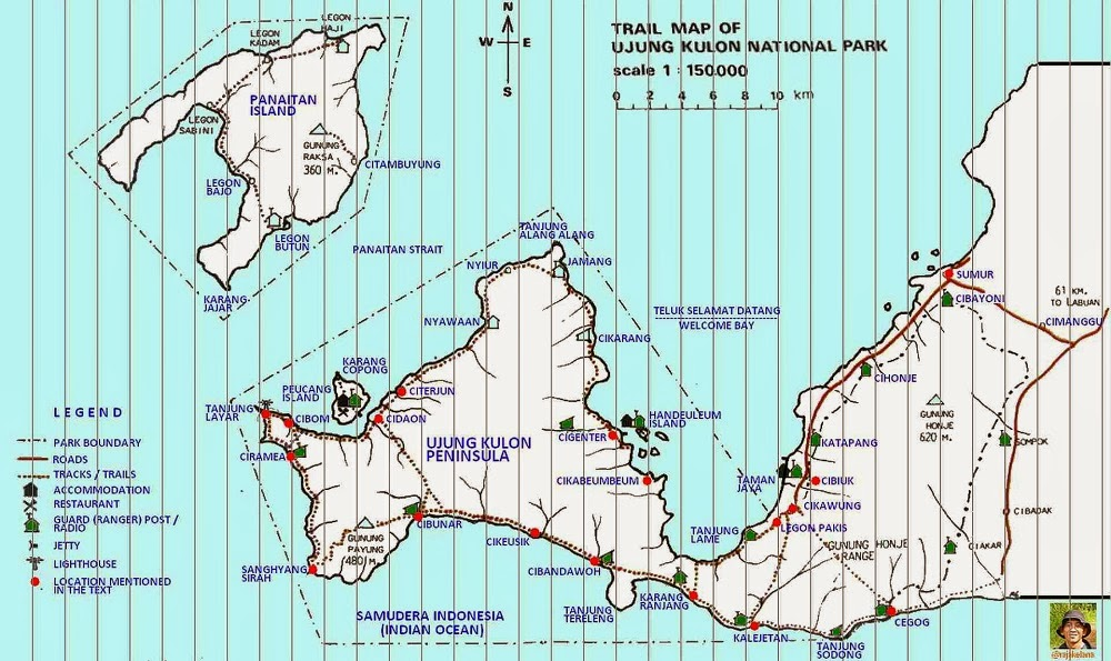 UJUNG KULON MAP - DELUXSHIONIST TRAVEL
