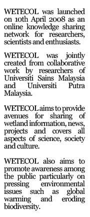 WETECOL @ Wetland Ecologist