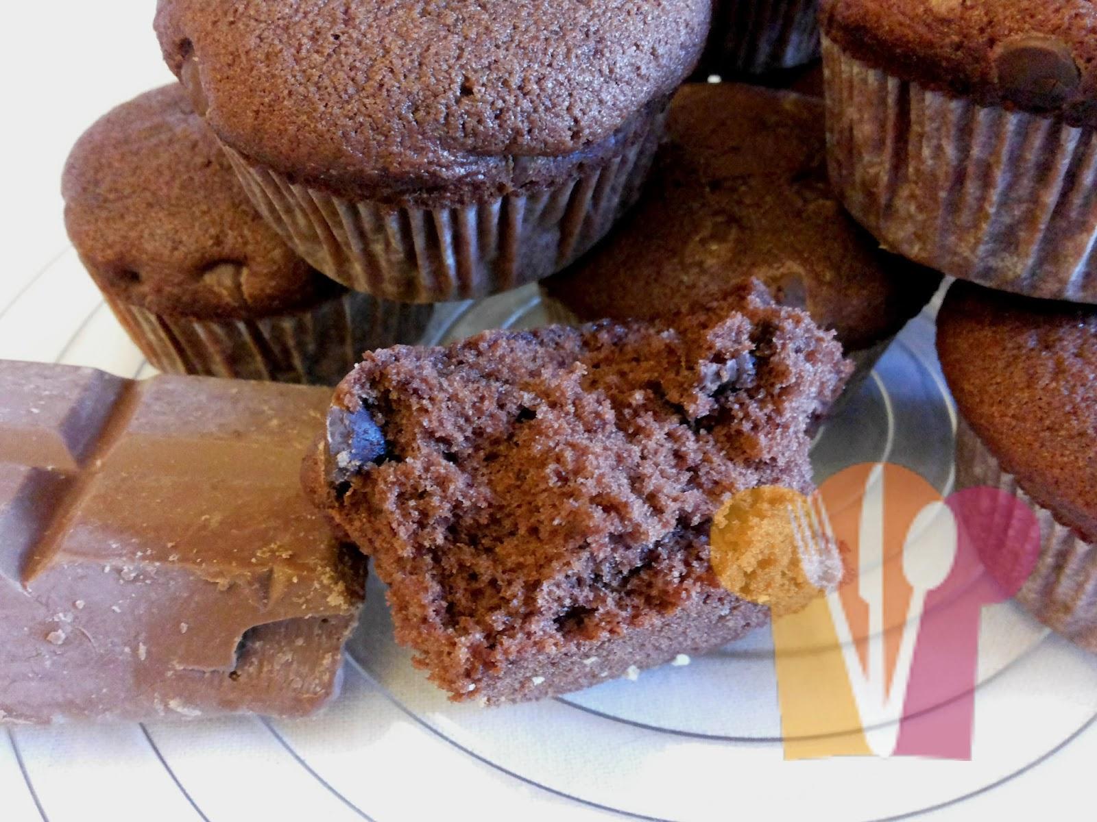 Double chocolate cupcake