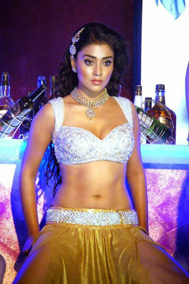shriya saran hot cleavage navel thigh hd wallpapers