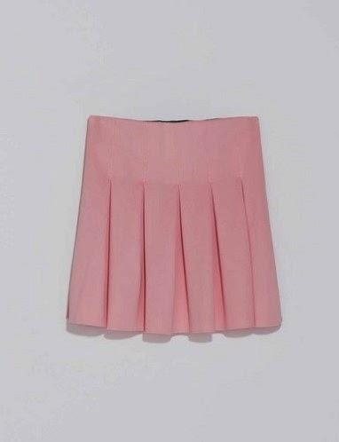 Falda de tablas Zara