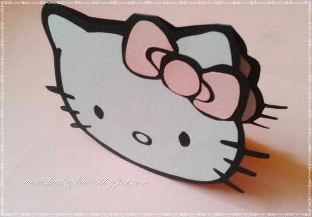 Zaproszenie na urodziny dla dzieci - Hello Kitty