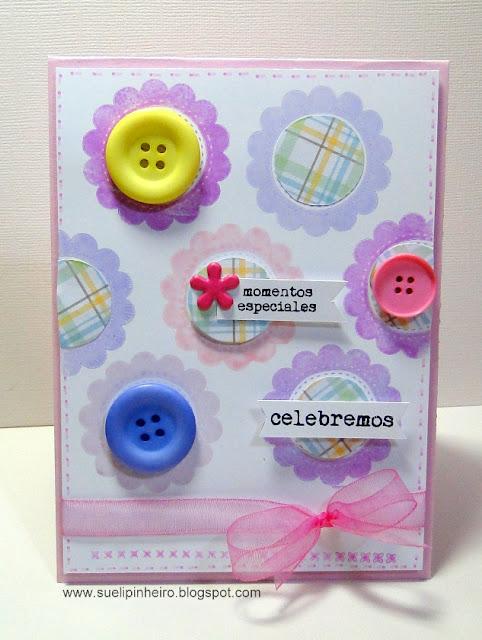Tarjeta flores botones