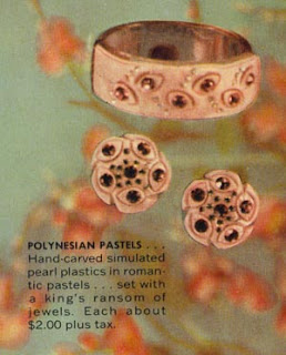 Vintage Polynesian Pastels Jewelry Set