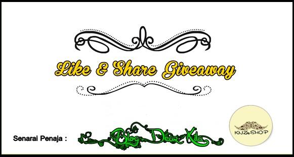 Like and Share Giveaway by dearxillaGIVEAWAY BLOGGER, Like and Share Giveaway, Please like and share, fesyen kawaii, stylish terkini dari Korea, busana Muslimah, aksesori wanita