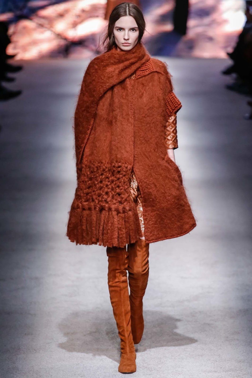 Over the knee boots on Fall/Winter 2015 runway at Alberta Ferretti via www.fashionedbylove.co.uk