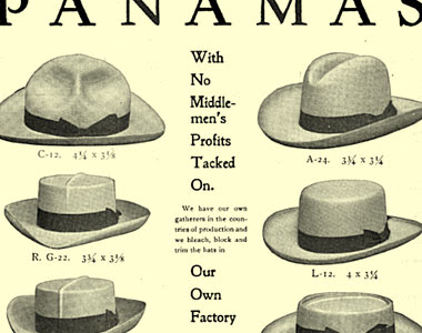 A Panama Hats Ad From 1902