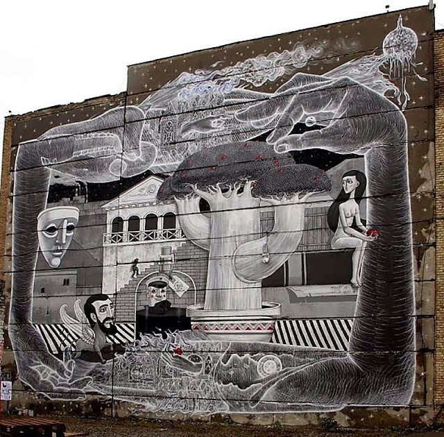 Street Art Collaboration By Roti And Aleksey Kislow on the streets of Kiev, Ukraine. 1