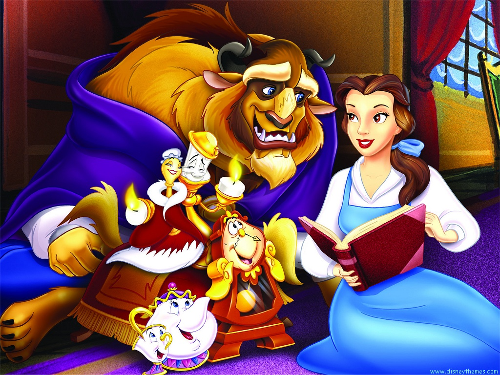 disney beauty and the beast wallpaper