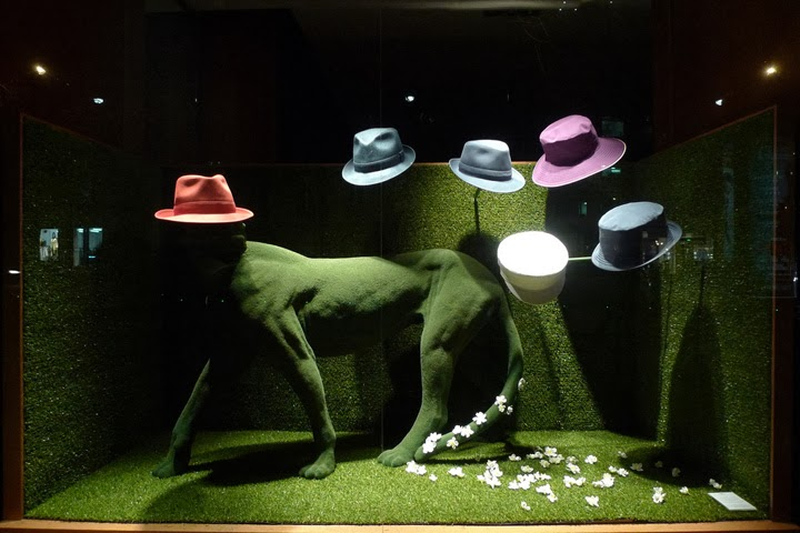 Hermes Green Spring Window Display