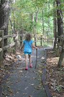 kids hiking at Devils Fork State Park South Carolina