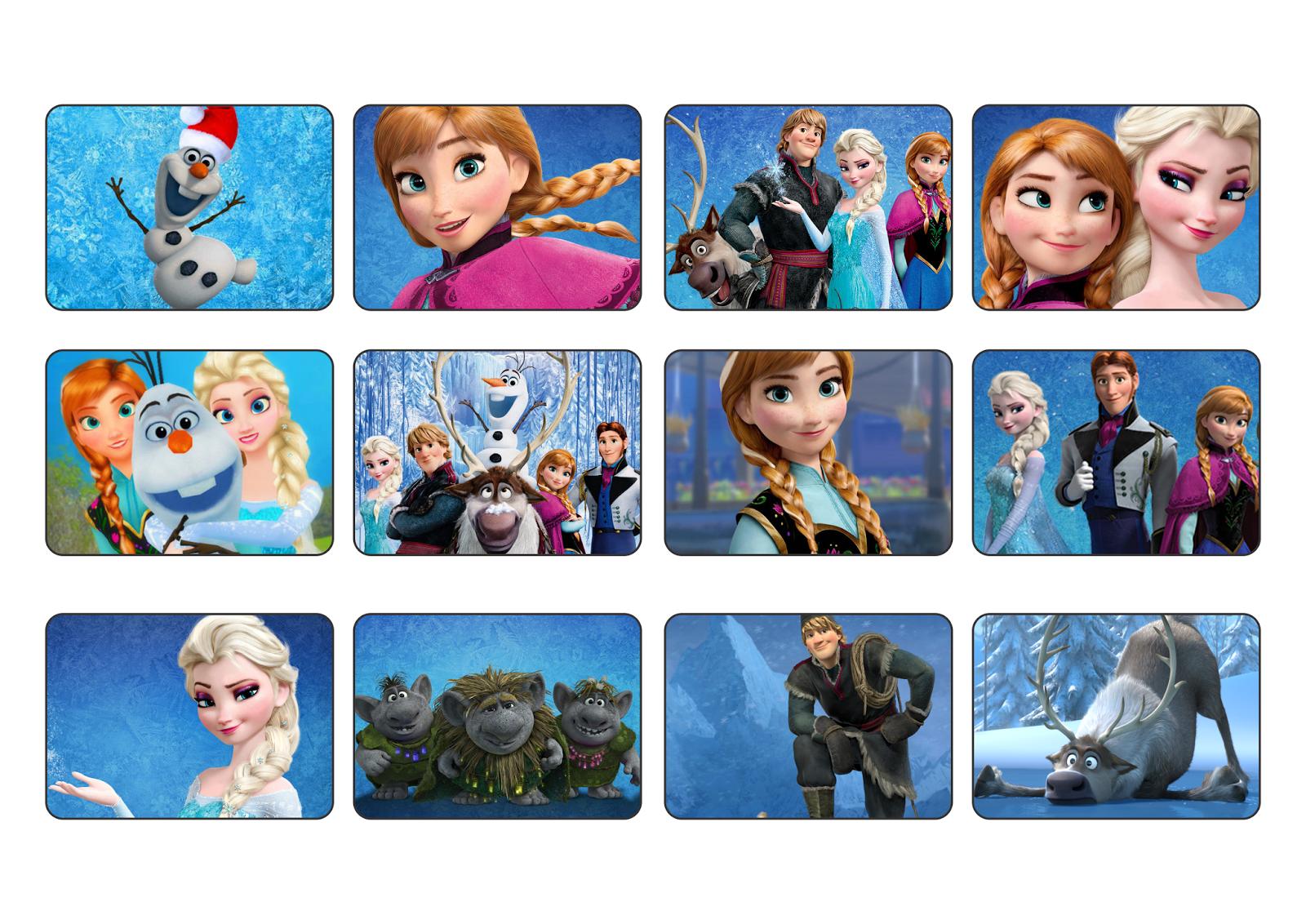 Jogo da Memória Temática Frozen Disney