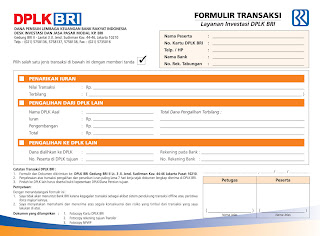 DPLK BRI: Formulir