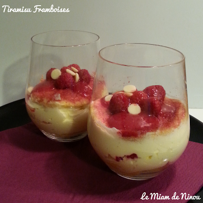 Illustration Tiramisu Framboises