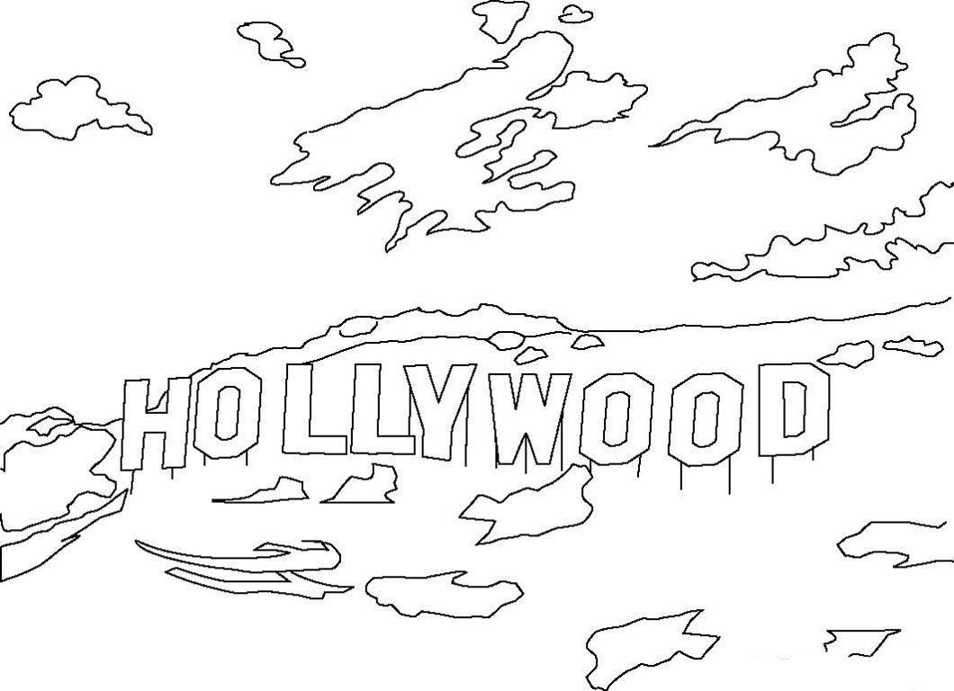 Free Hollywood Coloring Pages