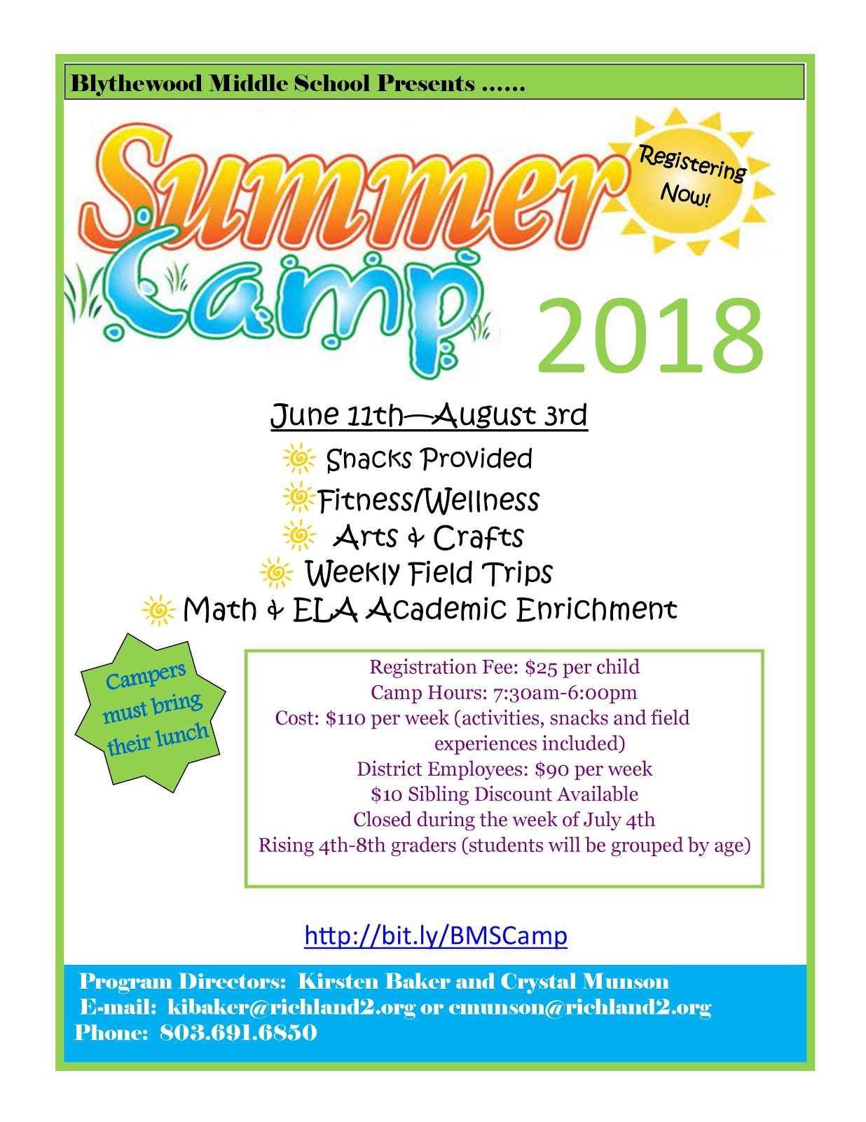 Charger Pride Summer Camp 2018