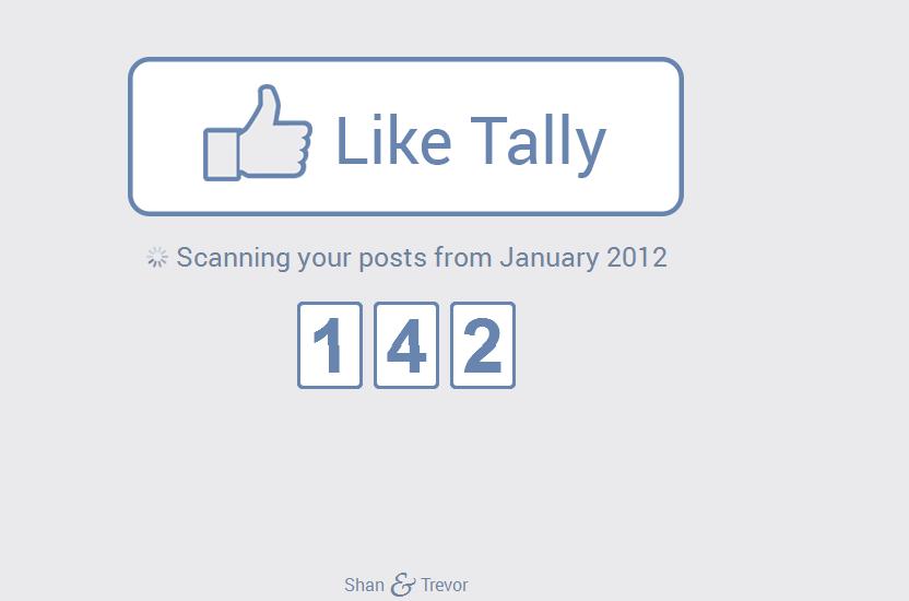 كيفية معرفة عدد اللايكات الاعجابات الكلية الاجمالية التي قمت بها على فيس بوك منذ انضمامك حتى الآن هذا الموقع يخبرك بالنتيجة how many likes I did