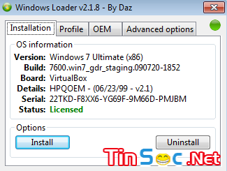 Windows Loader 2.18 - Công cụ crack windows 7 vĩnh viễn