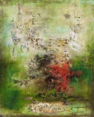 ZAO Wou-ki Pins Landais 1956